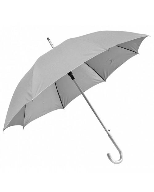 """Зонт-трость с пластиковой ручкой """"под алюминий"""" """"Silver"""", полуавтомат"""