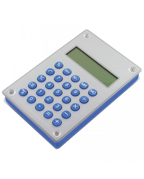 """Калькулятор """"Aqua"""" на энергии воды, 10х15х1,8 см, металл,пластик, лазерная гравировка"""