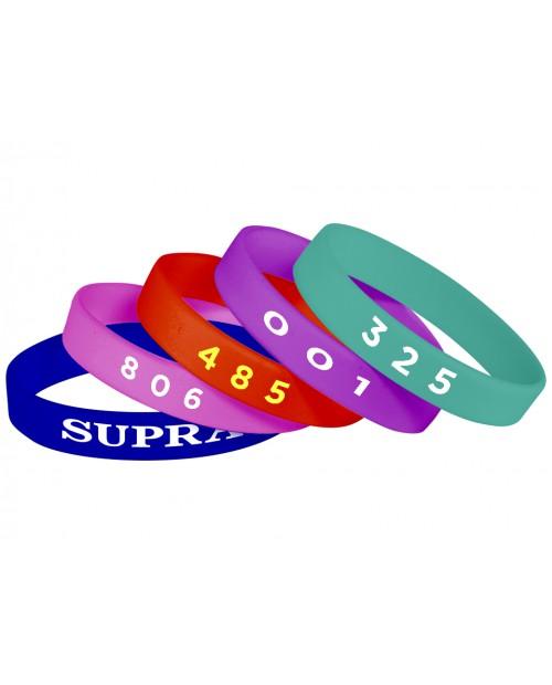 Силиконовые браслеты с нумерацией (индивидуальный номер, фамилия, имя)