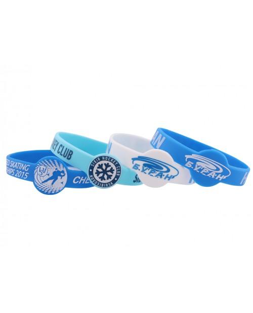 """Силиконовые браслеты с логотипом, форма """"Часы"""""""