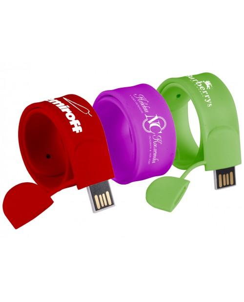 Силиконовые slap браслеты-флешки объёмом от 4 до 32 ГБ