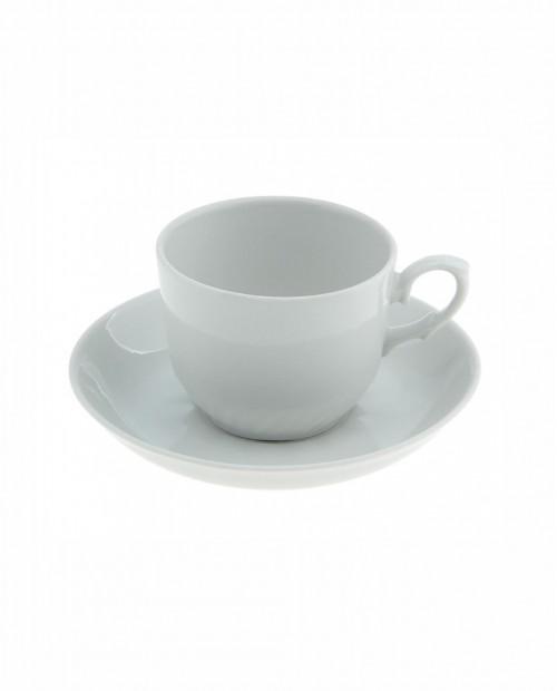 Чайная пара 250 мл, блюдце 15 см, цвет белый, деколь