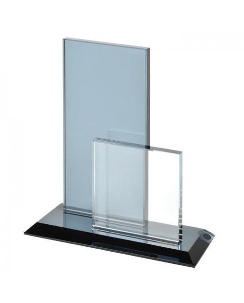 """Стела наградная """"Double"""", 15,5х6х17,6см, стекло 13126"""