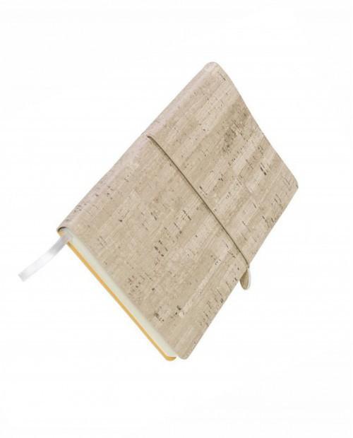 Ежедневник недатированный Woody, А5, коричневый, кремовый блок, без обреза