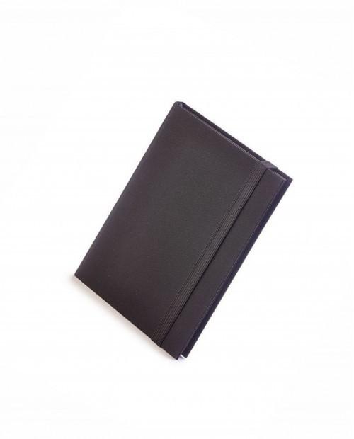Еженедельник недатированный Tango, B6, бежевый блок, черный обрез, ляссе