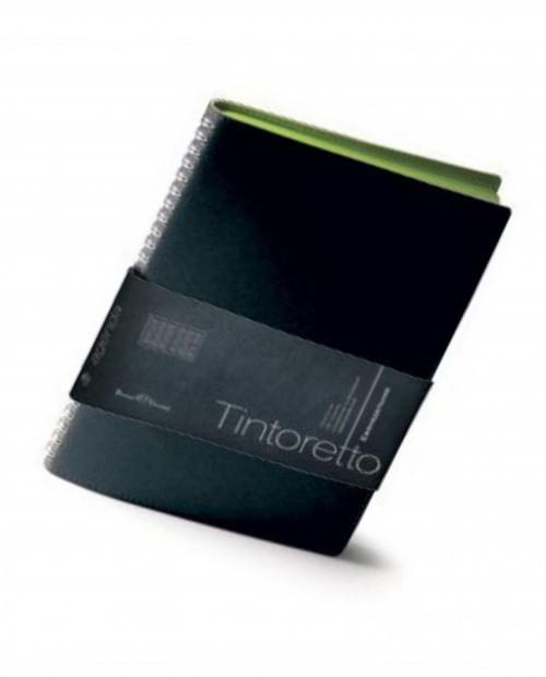 Еженедельник недатированный Tintoretto, B5, белый блок, зеленый обрез